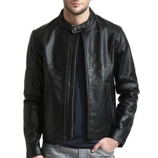 Link to Men's Black Moto Cafe Racer Leather Jacket Similar Items in Men's Outerwear