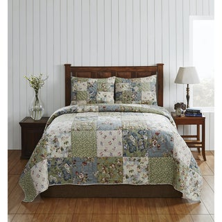 Natalie Cotton Patchwork Quilt Bedding Set