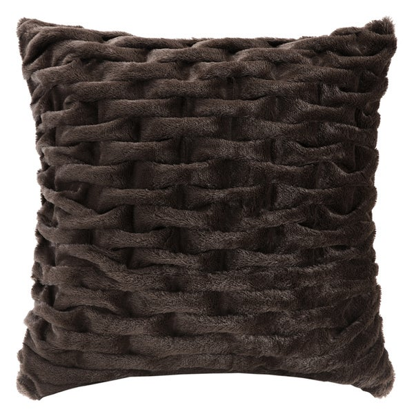 Hampton Hill Lifestyle Ruched Fur Euro Sham 2-Color Option