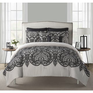 VCNY Flocked Paisley 7-piece Comforter Set