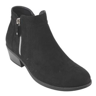 Refresh AD42 Women's Side Zipper Block Heel Ankle Booties