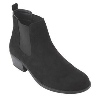 Refresh Women's AD40 Pull-on Elastic Chelsea Block Heel Ankle Booties