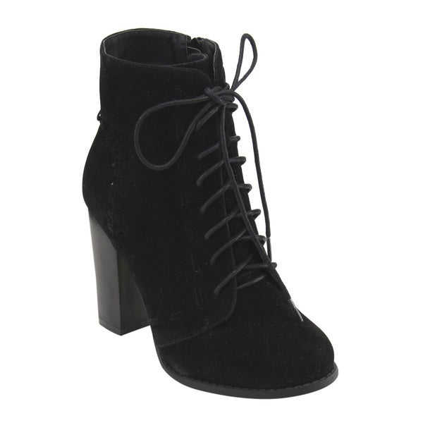 52f9da1822fe5 Shop Mark & Maddux Women's GE06 Lace-up Side-zip Block High Heel ...