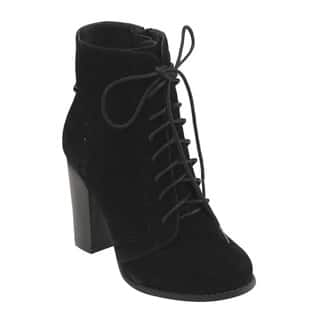Mark & Maddux Women's GE06 Lace-up Side-zip Block High Heel Ankle Booties|https://ak1.ostkcdn.com/images/products/12490725/P19300572.jpg?impolicy=medium
