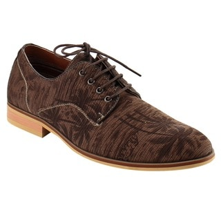 Ferro Aldo Men's Fabric Lace-up Stitched Slip-on Party Oxfords