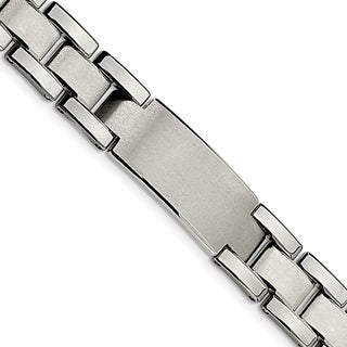 Chisel Tungsten Brushed and Polished 8.5-inch Bracelet