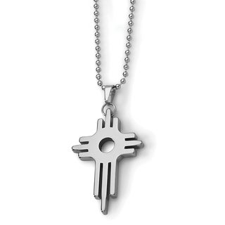 Chisel Tungsten Cross Necklace