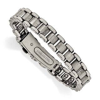Chisel Tungsten Polished and Matte Bracelet