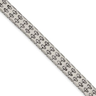 Chisel Tungsten Polished Link Bracelet