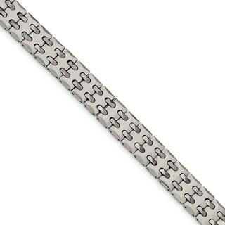 Chisel Tungsten Polished Link Bracelet