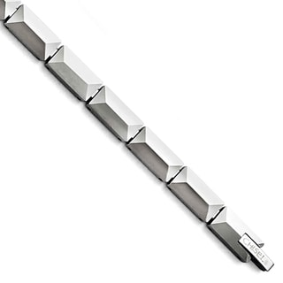 Chisel Tungsten Polished 8-inch Bracelet