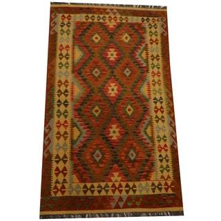 Herat Oriental Afghan Hand-woven Vegetable Dye Wool Kilim (3'10 x 6'6)