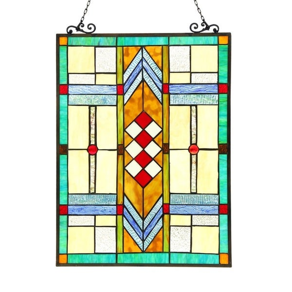 004bfbe75 Shop Chloe Tiffany Style Mission Design Window Panel/Suncatcher - M - Free  Shipping Today - Overstock - 12491858