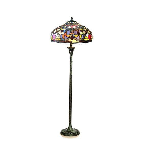 Chloe Tiffany Style Victorian Design 3 Light Antique Bronze Floor Lamp