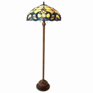 Chloe Tiffany Style Victorian Design 2-light Antique Bronze Floor Lamp