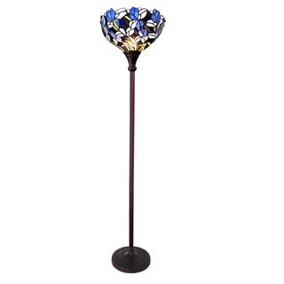Chloe Tiffany Style Tulip Floral Design 1-light Antique Bronze Floor Lamp/Torchiere