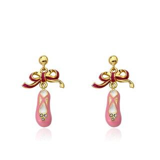 Little Miss Twin Stars Ballet Beauty 14k Gold-plated Crystal-enhanced Enamel Ballet Shoe Dangle Earrings|https://ak1.ostkcdn.com/images/products/12491977/P19301701.jpg?_ostk_perf_=percv&impolicy=medium