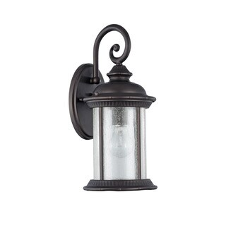 Chloe Transitional 1-light Textured Black Oil Rubbed Bronze Wall Lantern