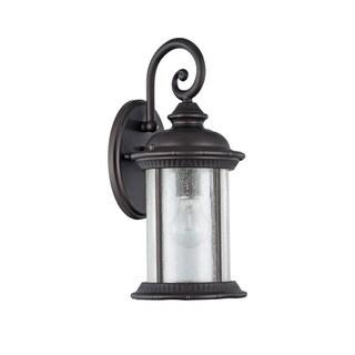 Chloe Transitional 1-light Textured Black Oil Rubbed Bronze Wall Lantern