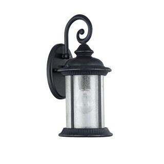 Chloe Transitional 1-light Textured Black Outdoor Wall Lantern|https://ak1.ostkcdn.com/images/products/12491982/P19301728.jpg?_ostk_perf_=percv&impolicy=medium
