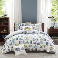Taylor & Olive Bricky Multi Cotton 4-piece Duvet