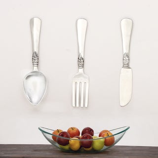 Urban Designs Aluminum 3-piece French Utensil Wall Art