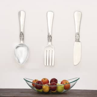 Urban Designs Aluminum 3-piece French Utensil Wall Art|https://ak1.ostkcdn.com/images/products/12492059/P19301775.jpg?impolicy=medium