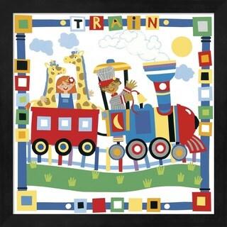 Cheryl Piperberg 'Train' Framed Children's Art