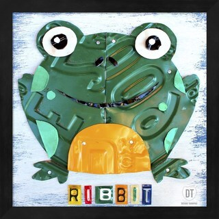 Design Turnpike 'Ribbit The Frog' Framed Art