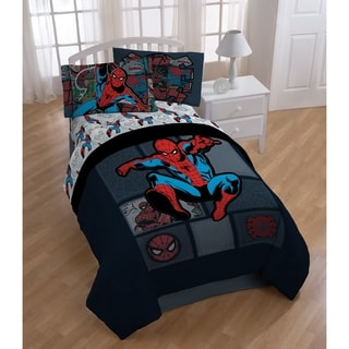 Marvel Spiderman 'Jump Kick' Twin 5-piece Bed in a Bag Set