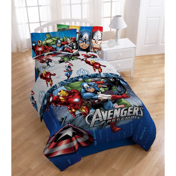 Marvel Avengers Halo Twin 4 Piece Bed In A Bag Set