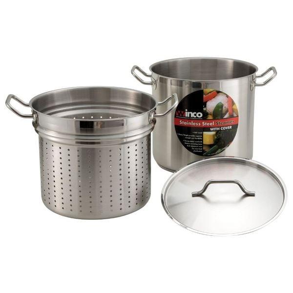 Shop Winco Stainless Steel 20 Quart Steamer Pasta Cooker