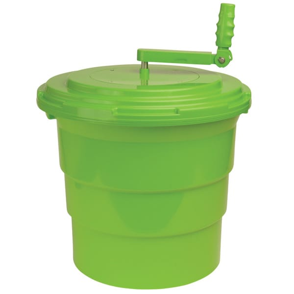 Winco green 5 gallon salad spinner free shipping today for Overstock free returns