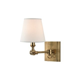 Hudson Valley Hillsdale 1-light Aged Brass Swivel Wall Sconce