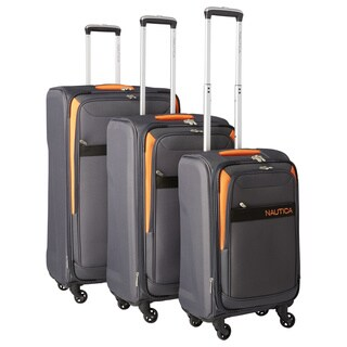 Nautica Halsey 3-piece Expandable Spinner Luggage Set