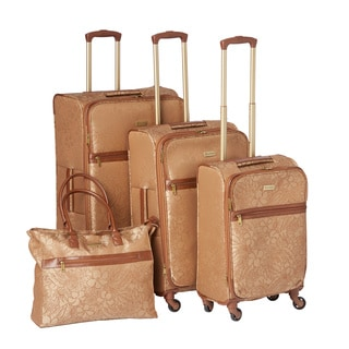 Tommy Bahama Mahalo 4-piece Expandable Fashion Spinner Luggage Set