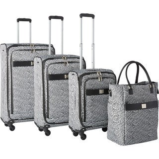 Anne Klein Rochester 4-piece Expandable Spinner Luggage Set