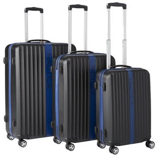 Nautica Surfers Paradise 3-piece Hardside Spinner Luggage Set