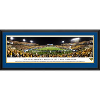 Blakeway Panoramas West Virginia Football 'Stripe End Zone' Framed Print