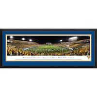 Blakeway Panoramas West Virginia Football 'Stripe End Zone' Framed Print