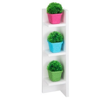 Honey Can Do Large Sectioned Wall Shelf, White
