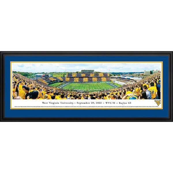 Blakeway Panoramas 'West Virginia Football - Stripe 50 Yard Line' Framed Print