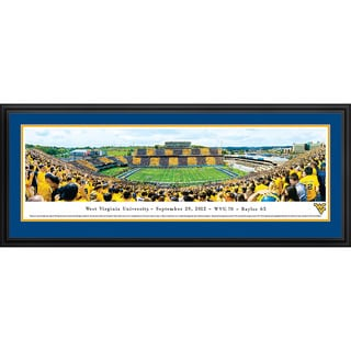 Blakeway Panoramas 'West Virginia Football - Stripe 50 Yard Line' Framed Print