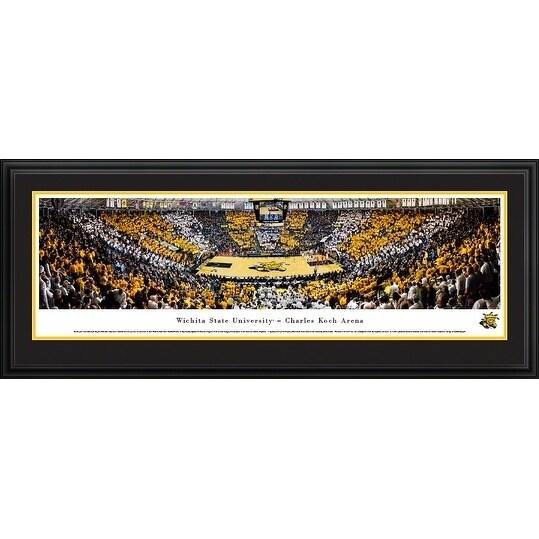 Blakeway Panoramas Wichita State University Basketball Framed Print
