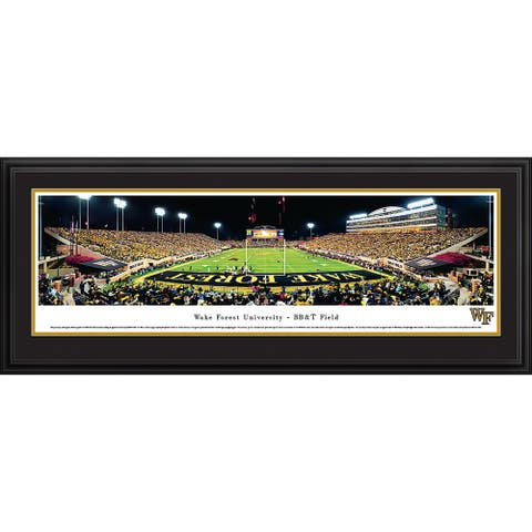 Blakeway Panoramas Wake Forest Football Framed Print