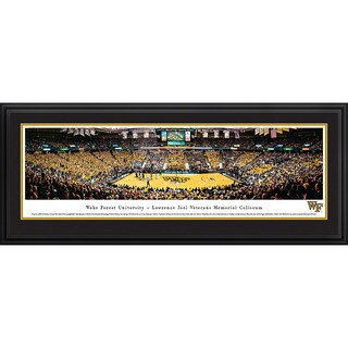 Blakeway Worldwide Panoramas Wake Forest University Demon Deacons Basketball Framed Print