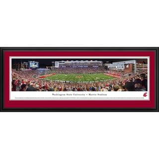 Blakeway Worldwide Panoramas Washington State Cougars Football Framed Print