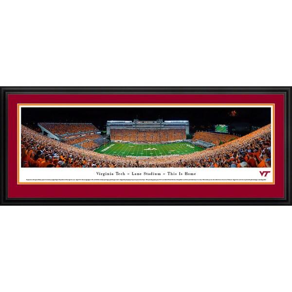 Blakeway Worldwide Panoramas Virginia Tech Football 50-yard Line Framed Photographic Print