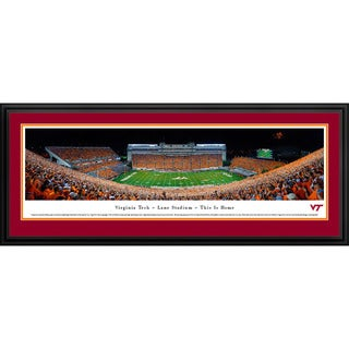 Blakeway Worldwide Panoramas Virginia Tech Football 50-yard Line Framed Photographic Print