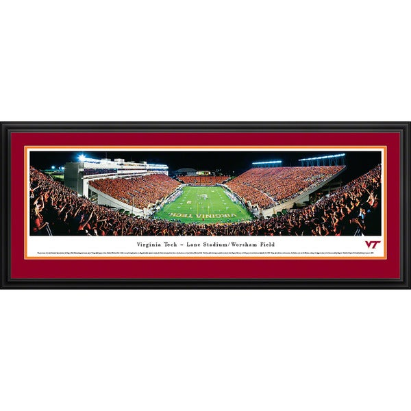 Blakeway Panoramas Christopher Gjevre 'Virginia Tech - Football - End Zone' Framed Print